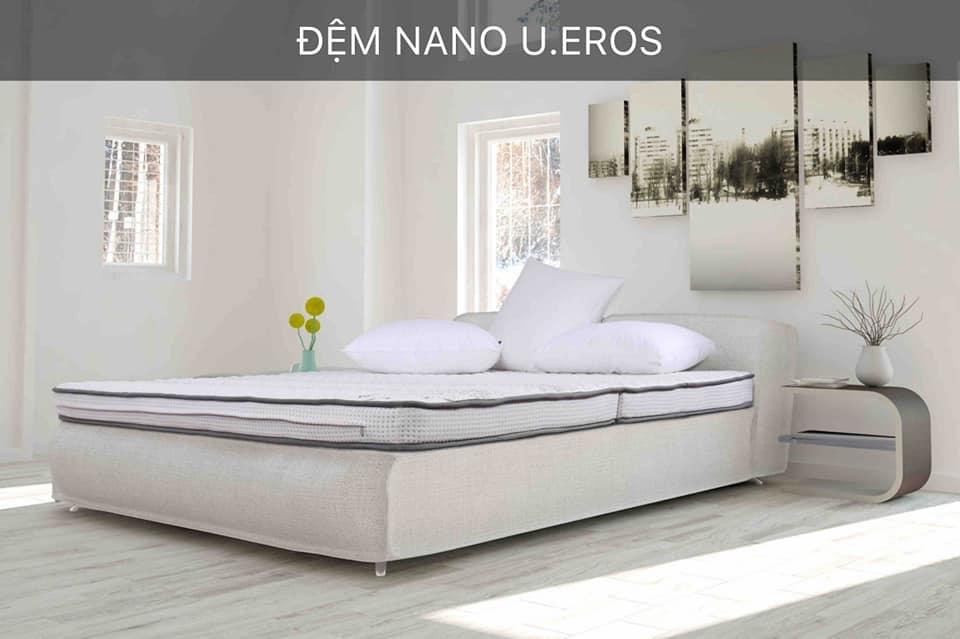 Đệm Nano U.eros chăm sóc sức khỏe cho gia đình bạn 180*200*10cm