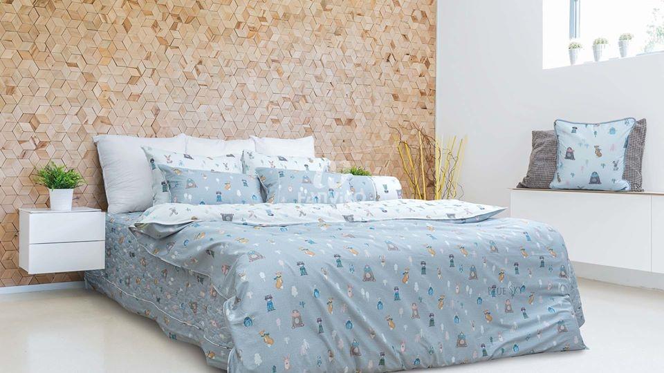 Bộ chăn ga gối Blue Sky Cotton T - DL182