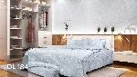 Bộ chăn ga gối Blue Sky Cotton T - DL184